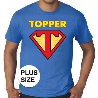 Toppers grote maten super topper logo t shirt blauw heren