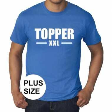 Toppers grote maten topper xxl t shirt blauw heren