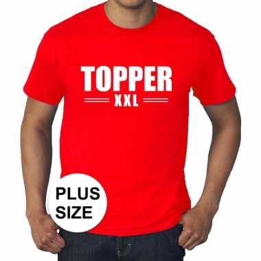 Toppers grote maten topper xxl t shirt rood heren