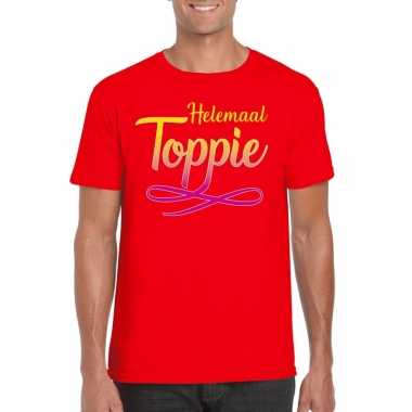 Toppers helemaal toppie t shirt rood heren