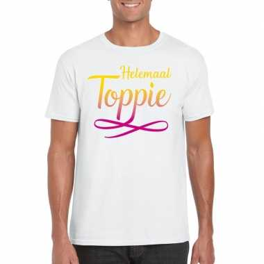 Toppers helemaal toppie t shirt wit heren