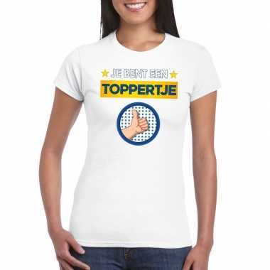 Toppers je bent een toppertje t shirt wit dames