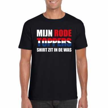Toppers mijn rode toppers shirt zit was t shirt zwart heren