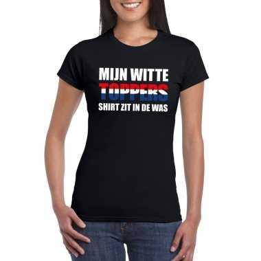 Toppers mijn witte toppers shirt zit was t shirt zwart dames