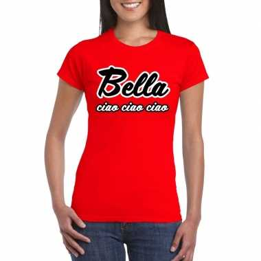 Toppers rood bella ciao t-shirt dames