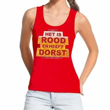 Toppers rood is rood heeft dorst tanktop / mouwloos shirt dames