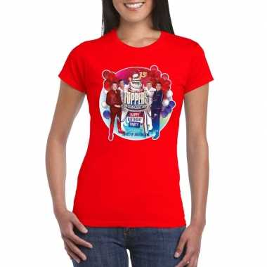 Toppers rood toppers concert 2019 officieel t shirt dames