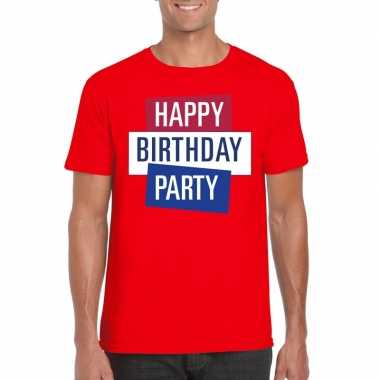 Toppers rood toppers happy birthday party heren t shirt officieel