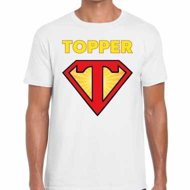 Toppers super topper logo t shirt wit heren