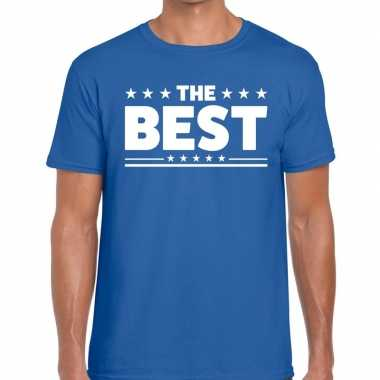 Toppers the best heren t shirt blauw