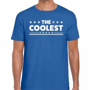 Toppers the coolest heren t shirt blauw