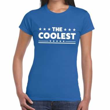 Toppers the coolest tekst t shirt blauw dames
