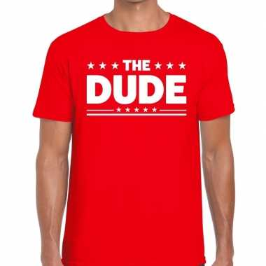 Toppers the dude heren t shirt rood