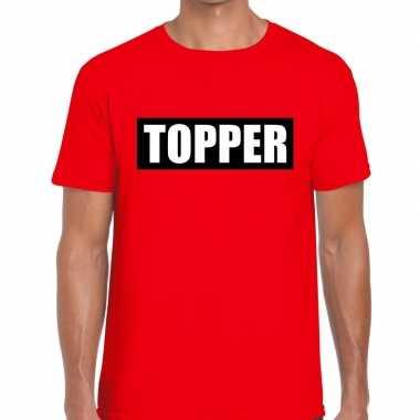 Toppers topper kader t shirt rood heren