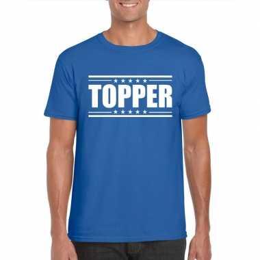Toppers topper t shirt blauw heren