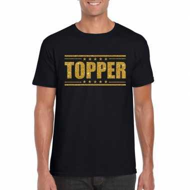 Toppers topper t shirt zwart gouden glitters heren