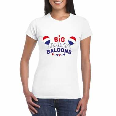 Toppers wit toppers big party baloons dames t shirt officieel