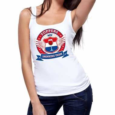 Toppers wit toppers drinking team tanktop / mouwloos shirt dames