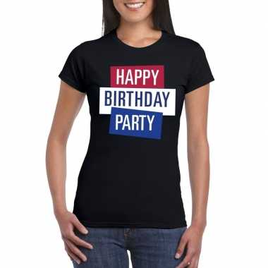 Toppers zwart toppers happy birthday party dames t shirt officieel