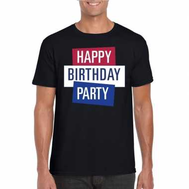 Toppers zwart toppers happy birthday party heren t shirt officieel