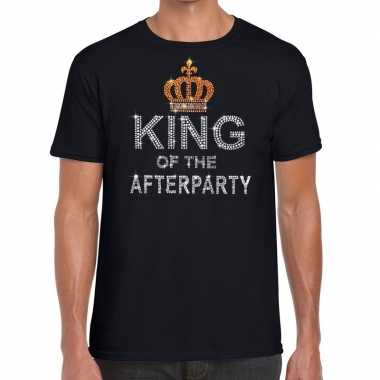 Toppers zwart toppers king of the afterparty glitter t shirt heren