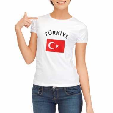 Turkse vlaggen t-shirt dames
