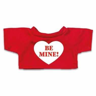 Valentijn knuffel kleding be mine hartje t shirt rood m clothies k