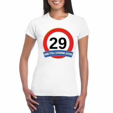 Verkeersbord 29 jaar t shirt wit dames