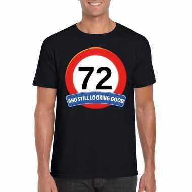 Verkeersbord 72 jaar t shirt zwart heren