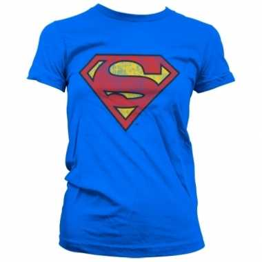 Vintage superman logo kleding dames shirt