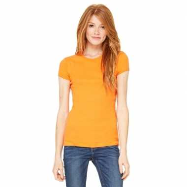 Voordelige oranje dames shirt hanna