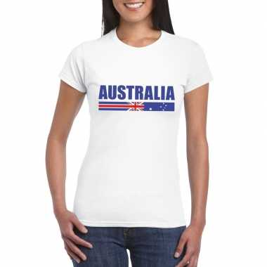 Wit australie supporter t shirt dames