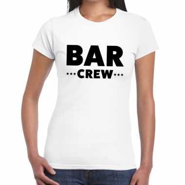 Wit bar crew shirt dames