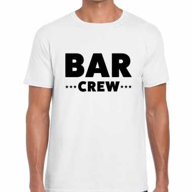 Wit bar crew shirt heren