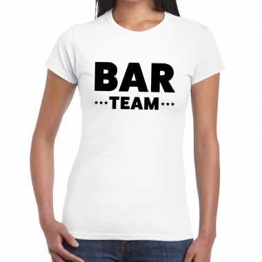 Wit bar team shirt dames