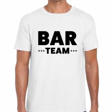 Wit bar team shirt heren
