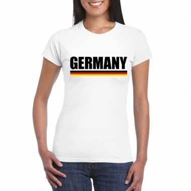 Wit duitsland supporter shirt dames