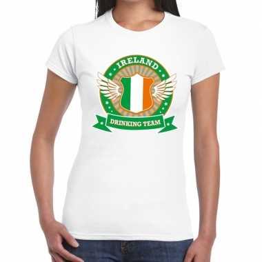 Wit ireland drinking team t shirt dames