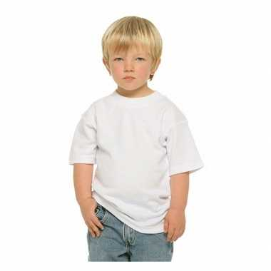Wit kinder t-shirt ronde hals