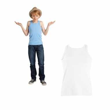 Wit kinder t-shirt zonder mouwen