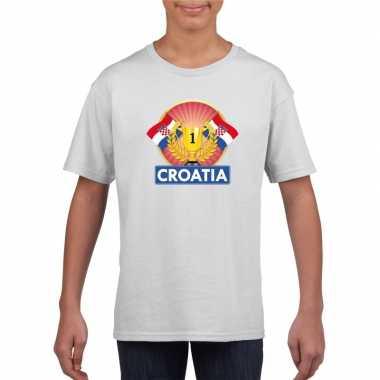 Wit kroatie supporter kampioen shirt kinderen