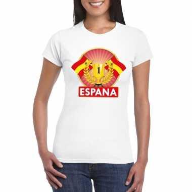 Wit spanje supporter kampioen shirt dames