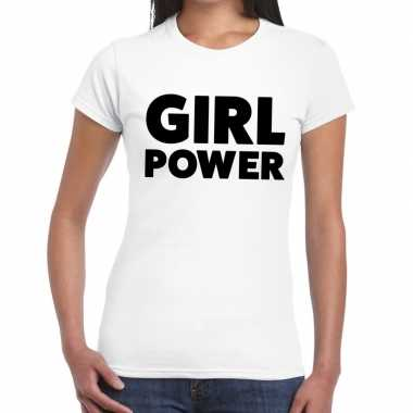 Witte tekst t shirts dames