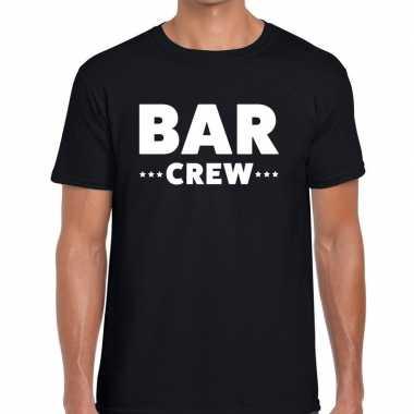 Zwart bar crew shirt heren
