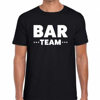 Zwart bar team shirt heren