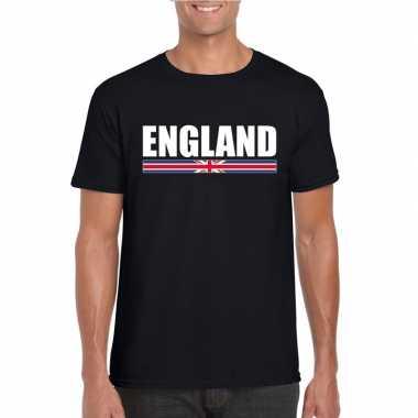 Zwart engeland supporter t shirt heren