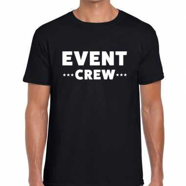Zwart event crew shirt heren