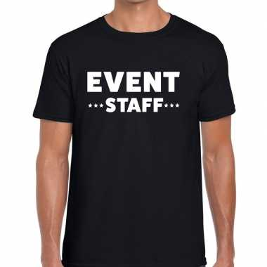 Zwart event staff shirt heren