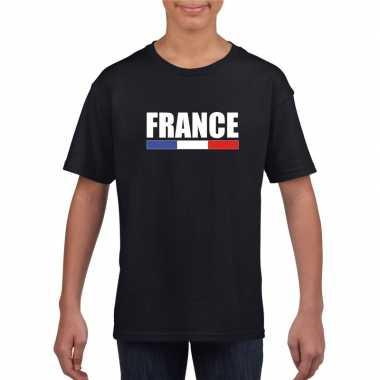 Zwart frankrijk supporter t shirt kinderen