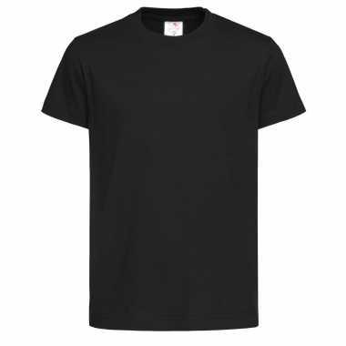 Zwart kinder t-shirt ronde hals